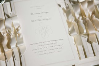 cream-and-ivory-wedding-invitations-bows-pearls-ribbons-pittsburgh-roman-catholic-ceremony-monogram
