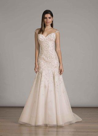 liancarlo-fall-2016-blush-trumpet-wedding-dress-with-beading