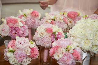 bridesmaid-bouquets-of-ivory-and-blush-peony-rose-flowers