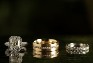 gold-mens-band-with-diamonds-and-brides-rings