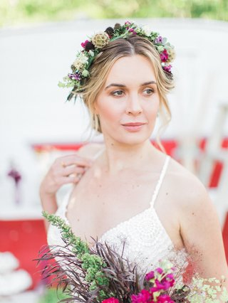 vibrant-eclectic-flower-crown-natural-california-boho-chic-wedding-styled-shoot-unique-bright