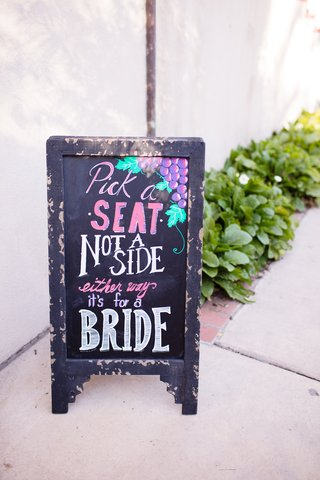 rustic-chalkboard-sign-with-grapes-same-sex-wedding-chalkboard-ceremony-sign