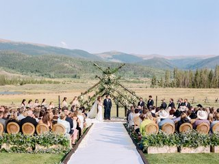 guests-seated-during-ceremony-at-devils-thumb-ranch-in-colorado-with-mountain-views
