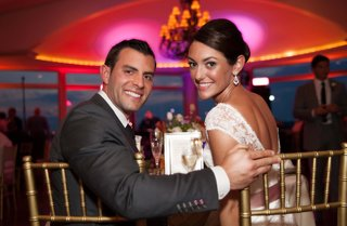 john-colaneri-co-host-of-kitchen-cousins-and-his-bride-at-reception