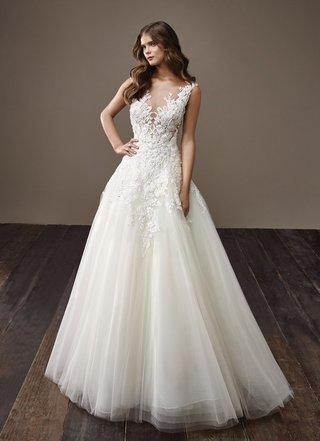 badgley-mischka-bride-2018-collection-wedding-dress-betsy-illusion-neckline-sleeveless-bridal-gown