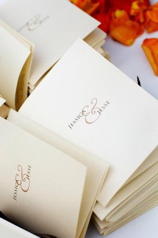 large-ampersand-on-ceremony-booklet