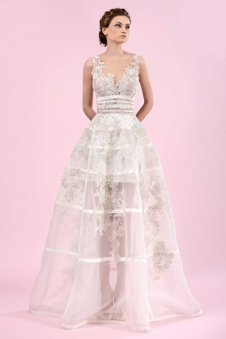 gemy-maalouf-2016-sheer-ball-gown-skirt-with-grid-details-and-illusion-neckline