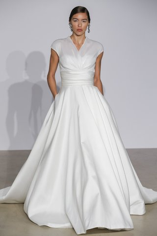 justin-alexander-fall-2018-organza-draped-illusion-v-neck-ball-gown-with-pockets
