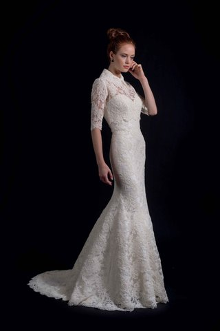 modern-trousseau-fall-2016-lace-wedding-dress-with-turtle-neck-over-jacket