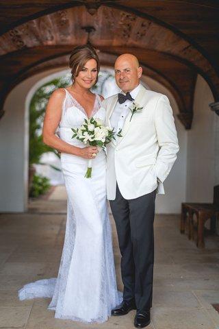 luann-de-lesseps-and-thomas-dagostino-wedding-portrait-white-dress-and-tuxedo