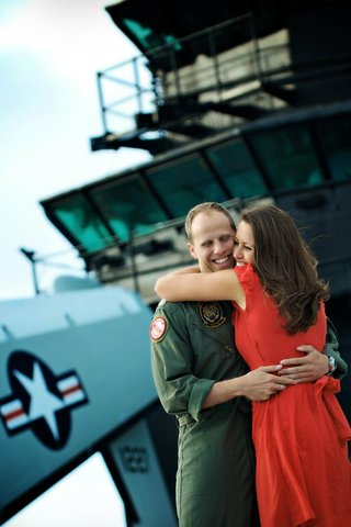 us-navy-lieutenant-and-wife-on-military-boat