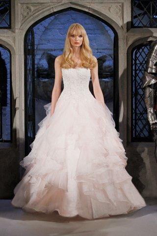 oleg-cassini-spring-2018-wedding-dress-strapless-blush-ball-gown-corset-bodice-ruffle-skirt-layers
