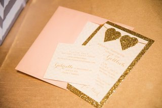 wedding-shower-invitation-with-pastel-pink-envelope-golden-glitter-border-hearts-chevron-design