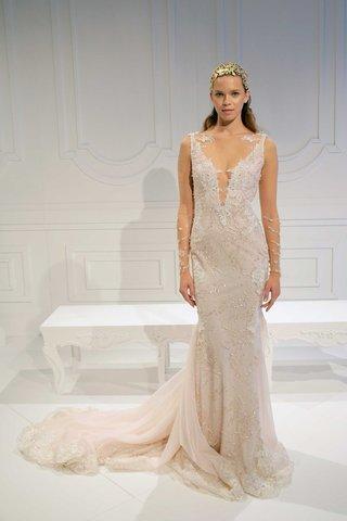 le-secret-royal-bridal-collection-galia-lahav-illusion-long-sleeves-light-pink-beaded-plunging-v