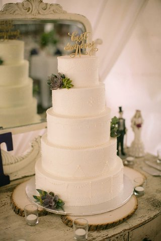 white-wedding-cake-with-fresh-succulents-and-gold-best-day-ever-cake-topper