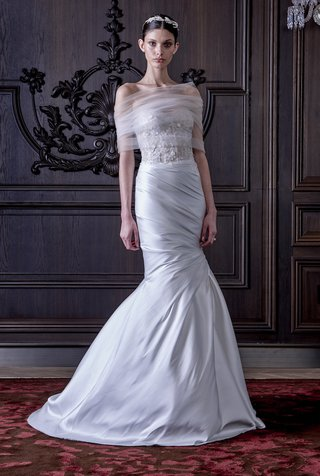 mermaid-gown-with-tulle-wrap-around-shoulders-by-monique-lhuillier