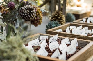 escort-cards-with-pinecones-in-wooden-boxes