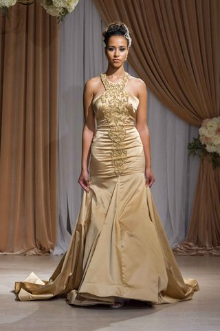 jean-ralph-thurin-fall-2016-gold-drop-waist-halter-wedding-dress