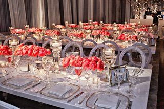 contemporary-ballroom-wedding-reception-with-pink-flowers