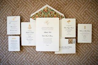 invitation-suite-with-tropical-emblem-and-patterned-envelope-liner