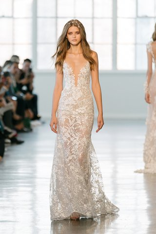 berta-fall-2018-wedding-dress-bridal-gown-plunging-neckline-form-fitting-floral-motif
