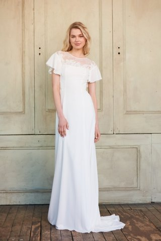 elyse-by-christos-spring-2018-slim-crepe-ruffle-sleeve-gown-lace-illusion-neckline