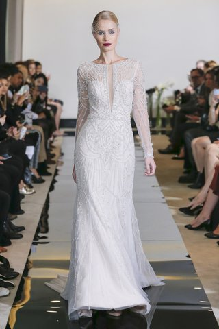 justin-alexander-spring-2018-plunging-v-neck-allover-beaded-fit-and-flare-gown
