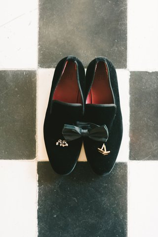black-velvet-loafers-black-tux-bow-tie-cuff-links