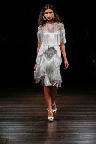 naeem-khan-bridal-fall-2017-sedona-knee-length-short-fringe-wedding-dress-jewel-neck-fringe-skirt