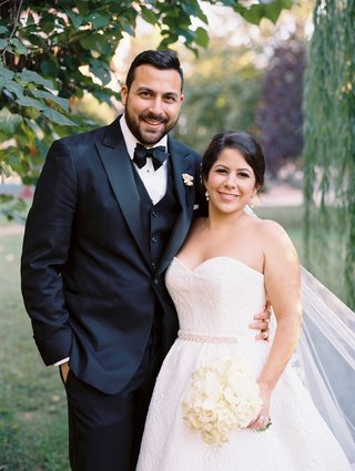 gabriela-velez-and-vincent-cuellar-wedding-portraits-groom-in-tuxedo-and-strapless-wedding-dress