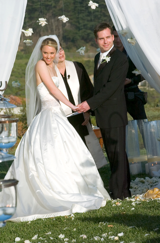 bride-in-a-line-ball-gown-at-alfresco-wedding