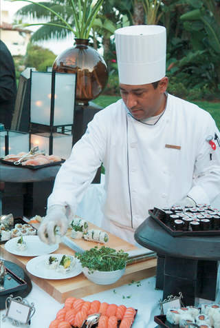 catered-japanese-food-station-with-chef