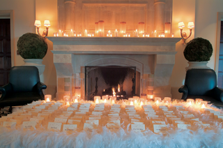 seating-cards-on-bed-of-snowy-feathers