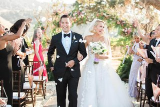 pitch-perfect-stars-anna-camp-skylar-astin-wedding-bride-groom-married-walk-up-aisle-ceremony-vows