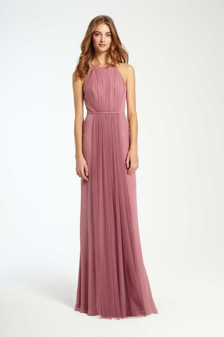 monique-lhuillier-bridesmaids-fall-2016-pink-bridesmaid-dress-with-halter-neck