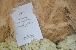 white-black-classic-ceremony-program-with-pampas-grass-and-white-flowers