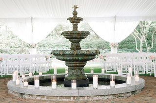 historic-fountain-candles-wedding-ceremony-south-carolina-love-classic-outdoor-tented-bricks-stone