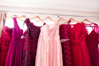 mismatched-bridesmaid-dresses-in-wine-colors-red-wine-to-rose