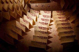 place-card-table-with-sparkly-confetti-and-place-cards-with-a-red-design