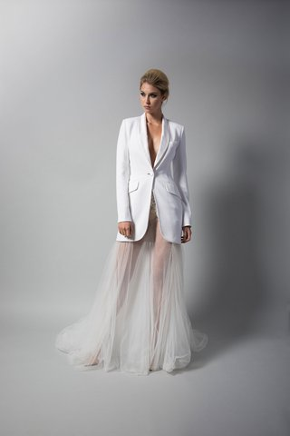 randi-rahm-fall-2018-wedding-dress-bridal-collection-billie-holiday-sheer-bridal-gown-tuxedo-jacket