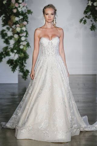 morilee-fall-2018-beaded-embroidered-appliques-on-layered-chantilly-lace-ball-gown
