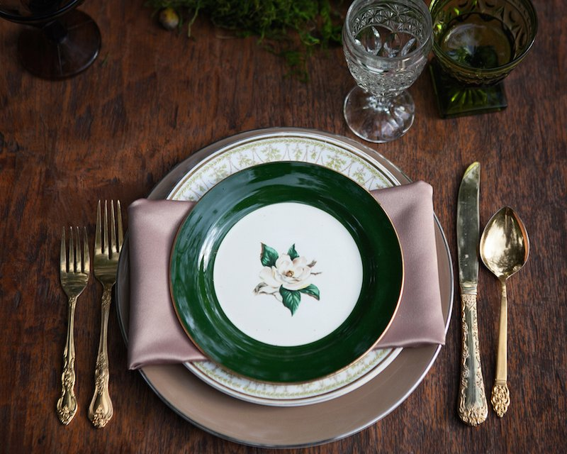 Green & Pink Place Setting