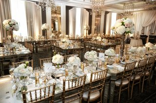 gold-chiavari-chairs-mirror-top-tables-pale-rose-centerpieces