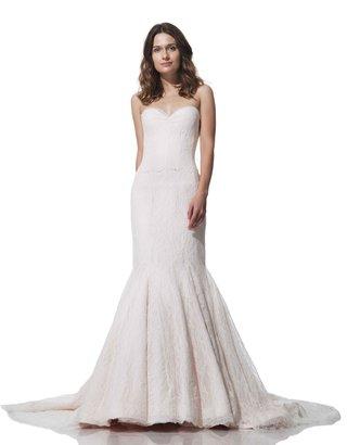 olia-zavozina-fall-winter-2016-strapless-lace-wedding-dress-with-pink-tint