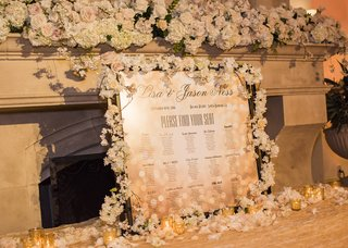 seating-chart-with-clever-table-names-frame-full-of-flowers