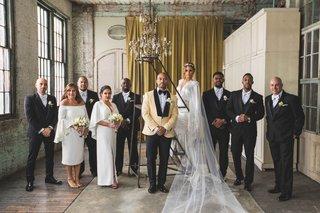 pia-toscano-american-idol-jimmy-ro-smith-jennifer-lopez-wedding-party-bridesmaids-groomsmen-dress