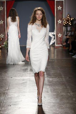 jenny-packham-2018-collection-cherish-ivory-lace-cocktail-dress-v-neckline-3-4-length-sleeves
