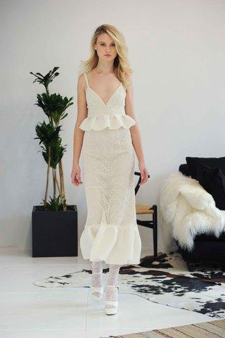 houghton-fall-2016-v-neck-tea-length-wedding-dress-with-peplum-details-and-straps