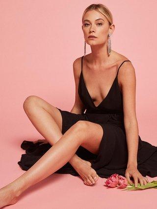 reformation-bridesmaid-dress-callalily-in-black-high-slit-v-neckline-open-back