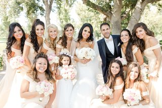 bride-in-nicole-spose-with-bridesmaids-in-christina-wu-bridesman-and-flower-girl
